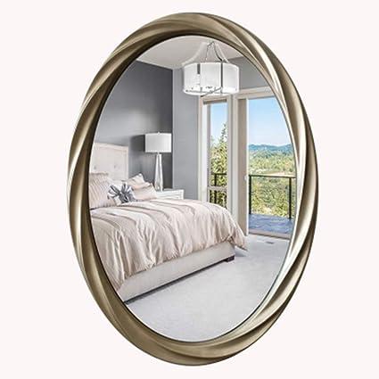 small oval bathroom mirror