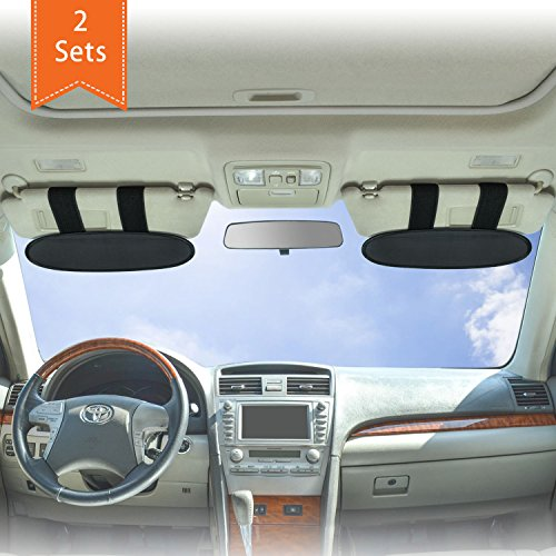 WANPOOL Anti-Glare Anti-Dazzle Vehicle Visor Sunshade Extender Sun Blocker for