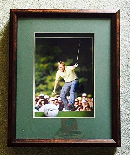 JACK NICKLAUS SIGNED Golf Ball in 12x15 Shadow Box Frame P22496 - PSA/DNA Certified - Autographed Golf (Golf Memorabilia Shadow Box)