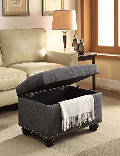 Convenience Concepts Designs4Comfort 5th Avenue Storage Ottoman, Gray by Convenience Concepts (Image #5)