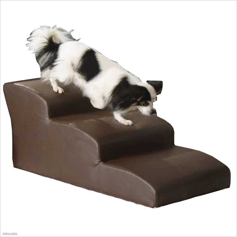 Escaleras De Cuero del Gato del Perro De La PU, para El Sofá 3 Paso Cama del Gato del Paso del Perro-Cama Ventilador-Formada De La Rampa, Sofá, ...