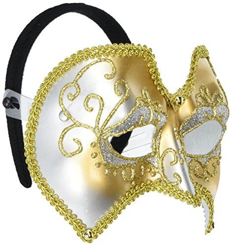 Forum Novelties Masquerade Mardi Gras Glitter Venetian Mask