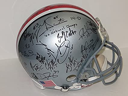 bfd69e1d71f Amazon.com  Ohio State team signed football Helmet 2002 National Champions  Buckeyes Riddell  Sports Collectibles