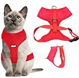 Dexil Luxury Cat Harness Padded and Water Resistant (Black L-XL)