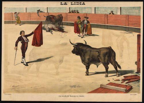 Impresión antigua - Las corridas de toros-tauromachia-arena-españa-torero - PL. 21 de la Lidia-1887: Amazon.es: Hogar