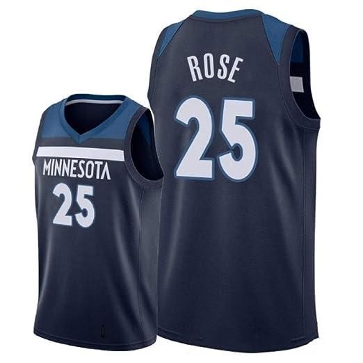 CHXY NBA Camiseta De Baloncesto para Hombre, Derrick Rose # 25 ...