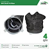 4 Dirt Devil F4 Filter For Extreme Power, AccuCharge, Jaguar Cordless, Quick Power, Scorpion Cordless Hand Vacs; Replaces Dirt Devil F-4 Part #3-ME1950-001, 3ME1950001, 2ME1950001 By ZVac