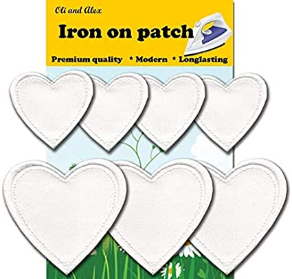 Iron On Patches Red Heart Patch Iron On 4 pcs Patch Embroidered Applique A-20