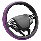 SEG Direct Microfiber Leather Purple Steering Wheel Cover Universally Fits 15 inches