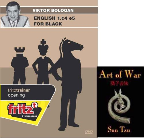 English 1.c4 e5 for Black - Bologan Chess Software and Art of War E-Book Bundle: 2 items