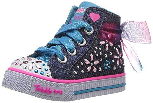 - Skechers Kids Girls' Shuffles-Fancy Faves Sneaker,DARK DENIM,5 M US Toddler