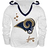St. Louis Rams - Girls Juvy Burnout Hooded Long Sleeve