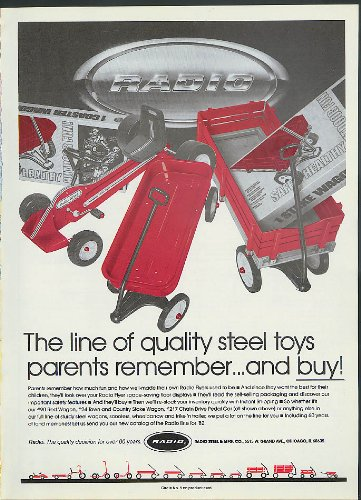 arents remember Radio Flyer Wagon & Pedal Car ad 1982 ()