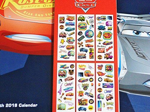 Disney Pixar Cars 3 2018 Calendar and Sandylion Sticker Bundle Photo #5