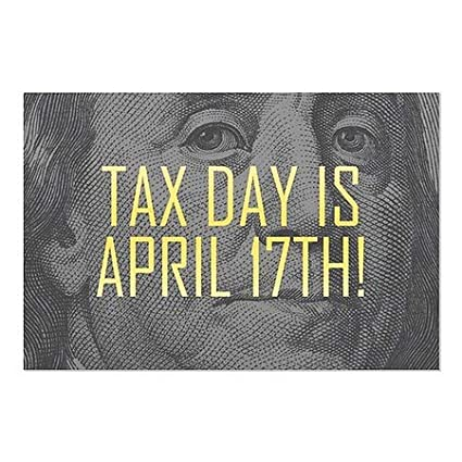 Inner CircleBen Franklin -Tax Day Window Cling 5-Pack | 30x20 CGSignLab
