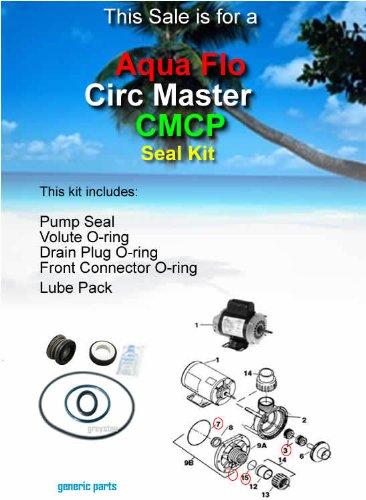 Aqua-Flo (CIRC-MASTER CMCP) (AQU001) Pump Shaft Seal & O-ring Rebuild/Replacement Kit. For QUICK, EASY and SMART swimming pool pump repairs. -