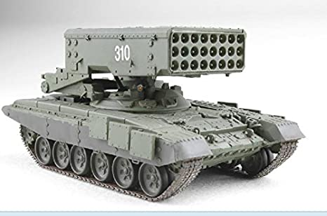 d0ec2d597fb9 Amazon.com  ModelCollect UA72003 1 72 TOS-1A with T-90 Chassis Heavy ...