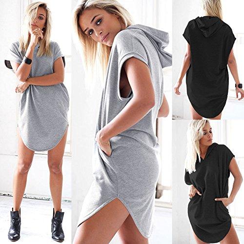ICOCOPRO - Sudadera con capucha - para mujer gris
