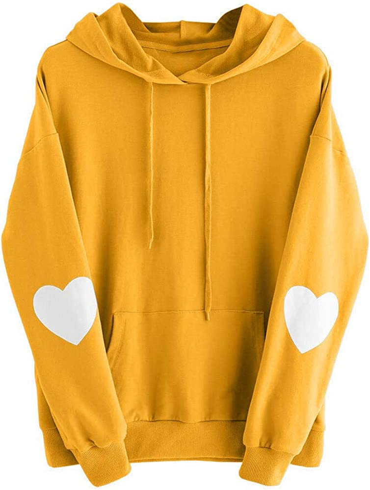 Women Peach Print Hoodies Roysberry Teen Girls Drawstring Pullover Sportsweater