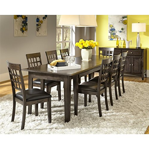 A-America Bristol Point 10 Piece Dining Set in Warm Gray