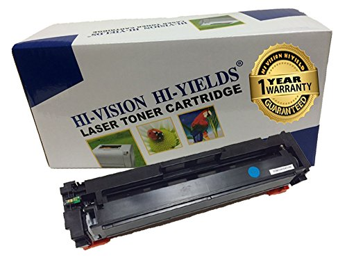 HI-VISION Compatible HP CF411A [410A] Cyan (2,300 Pages) Laserjet Toner Cartridge Replacement for Color LaserJet Pro M452nw, M452dw, MFP M477fnw, MFP M477fnw, M452dn, MFP M477fdn