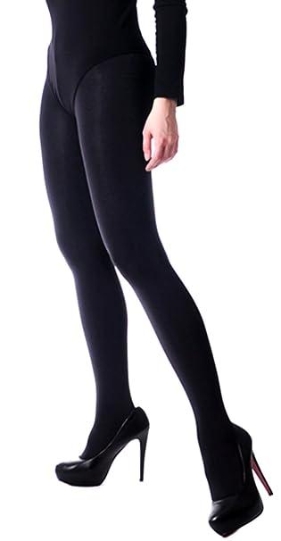 Blickdichte glänzende Strumpfhose mit Satinglanz T Band 100 den schwarz S XL