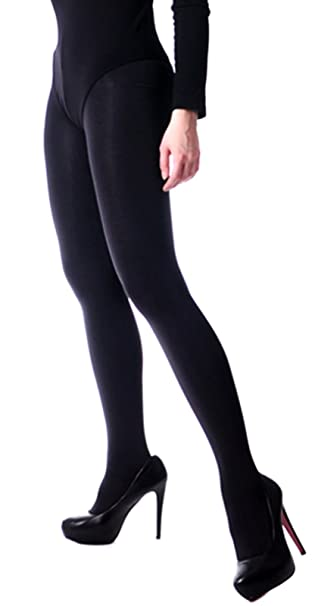 6a44c9a6b7a719 Blickdichte glänzende Strumpfhose mit Satinglanz T-Band 100 den schwarz  S-XL (S-M