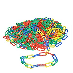 122 pcs Plastic C-clips Hooks Chain Links C-links Rat Parrot Bird Toy Cage DIY Plastic C-clips Hooks Chain C-links Sugar Glider Rat Parrot Cockatoos Cockatiels Conure Macaws Bird Pet Child Toy Parts 7