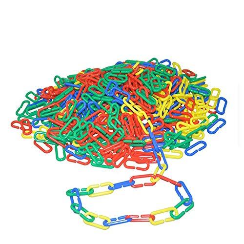 (122 pcs Plastic C-clips Hooks Chain Links C-links Rat Parrot Bird Toy Cage DIY Plastic C-clips Hooks Chain C-links Sugar Glider Rat Parrot Cockatoos Cockatiels Conure Macaws Bird Pet Child)