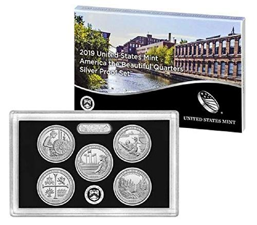 2019 S America the beautiful 2019 S Silver Quarter Proof Set America the Beautiful With Box and COA Silver Proof ()