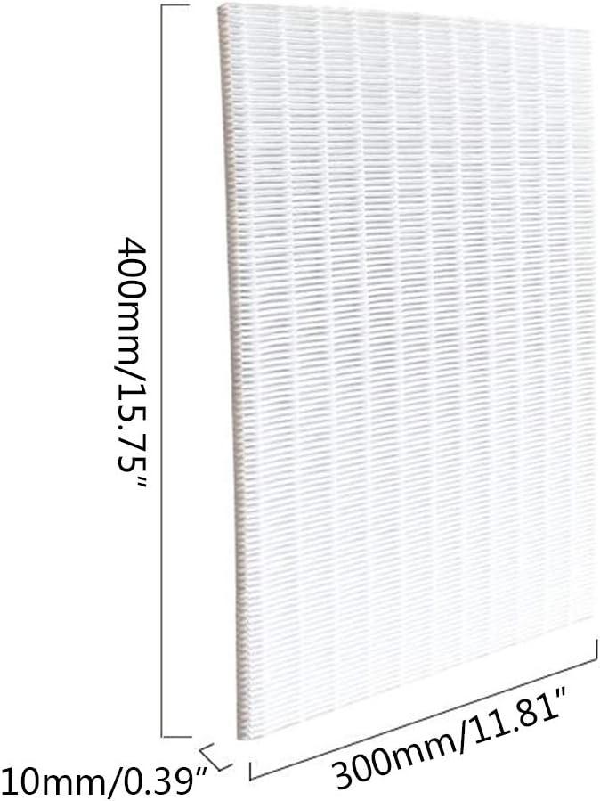 BUIDI Filtro Limpiador de eliminaci/ón de Polvo sin Marco Elemento de Filtro purificador de Aire 1x Filtro de Aire Acondicionado Blanco
