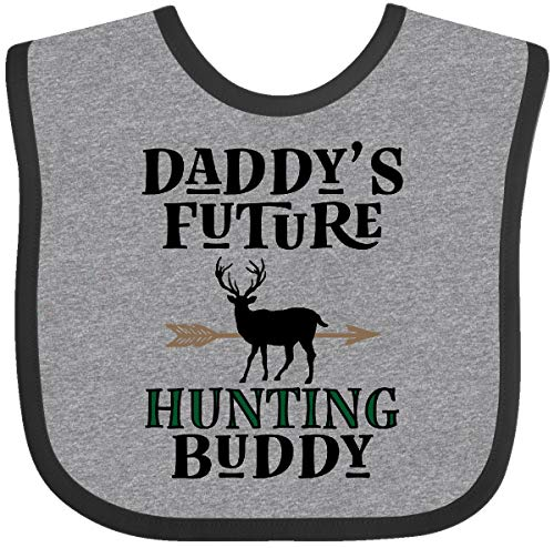 Inktastic - Daddy Future Hunting Buddy Baby Bib Heather and Black 34a1b