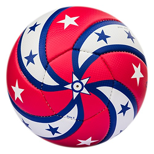 Bend-It, CURL-IT USA Red White Blue Soccer Ball, Hand Sewn (Soccer Referee Usa)