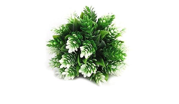 Amazon.com : eDealMax Acuario de plástico Emulación hojas Bajo el agua decoración del árbol 5, 1 pulgadas Verde : Pet Supplies