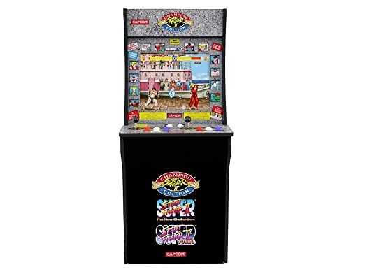 Arcade 1Up – Street Fighter 2 Classic 80s Arcade Game Cabinet for Kids and Adults – 3/4 Scale – Coinless Operation – 3 Games in 1 (Street Fighter 2 Champion Edition, The New Challengers and Turbo)
