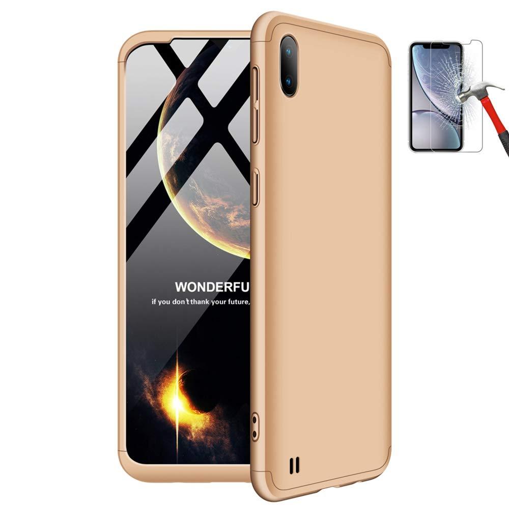 Misstars Ultra Mince 3 en 1 PC Dur Mati/ère /Étui 360 Degr/és Protection Anti-Rayures Antichoc pour Samsung Galaxy A10 Or Rose Coque pour Galaxy A10 avec Protecteur D/écran