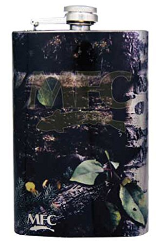 MFC Elk Stainless Steel Hip Flask, Camp Camo by MFC