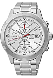Seiko SKS417 Chronograph Silver Dial Stainless Steel Mens Watch