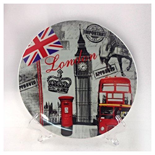 Stand 20 CM CERAMIC GIFT LONDON SOUVENIRS DECORATIVE PORCELAIN PLATE