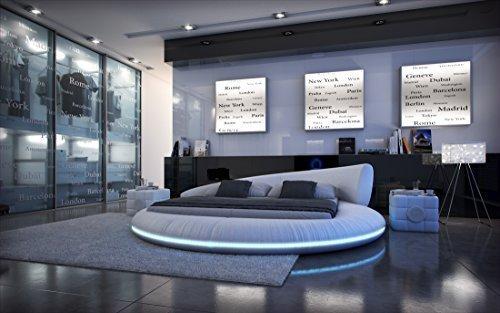 cama completa Redonda Mezzo LED+Colchón+somier
