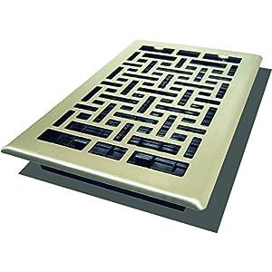 Decor Grates AJH610-NKL Oriental Floor Register, 6-Inch by 10-Inch, Nickel