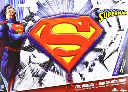 (Anagram 29692 Superman Emblem Supershape Foil Balloon, 26