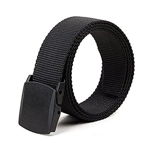 Buckle Jeans Belt (JasGood Unisex Camouflage Belt 1.5 In Nylon Adjustable Web Belt with Plastic Buckle)