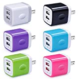 USB Wall Charger, Charger Adapter, Ailkin 6-Pack 2.1Amp...