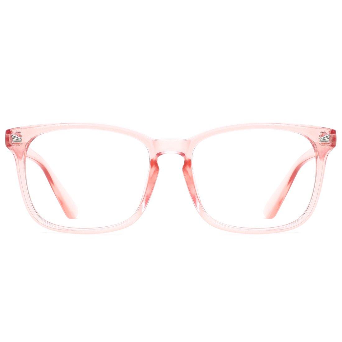 TIJN Blue Light Blocking Glasses Wayfarer Nerd Eyeglasses Frame Computer Game Glasses 00089302