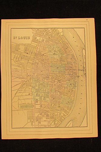 Old Detailed Colored Antique Map - 2