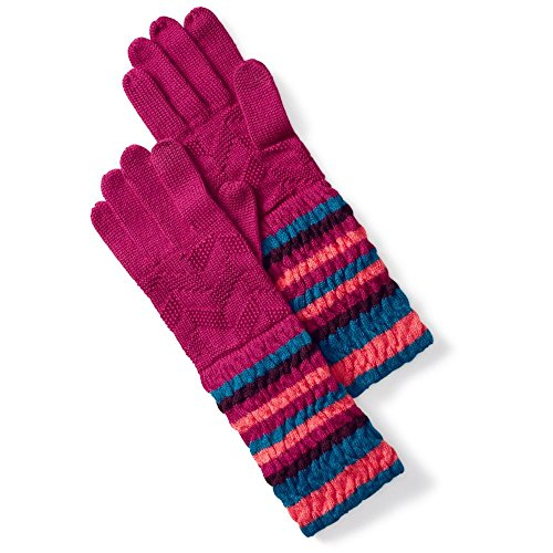 Smartwool Striped Chevron Glove - Women's Berry One Size