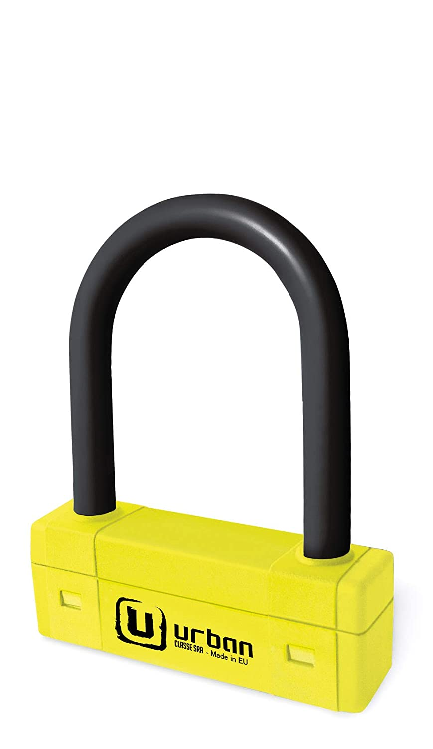 Urban security URBAN - Antivol U 85x120mm ø18mm Jaune - Homologué SRA et NF-FFMC 8423885871206