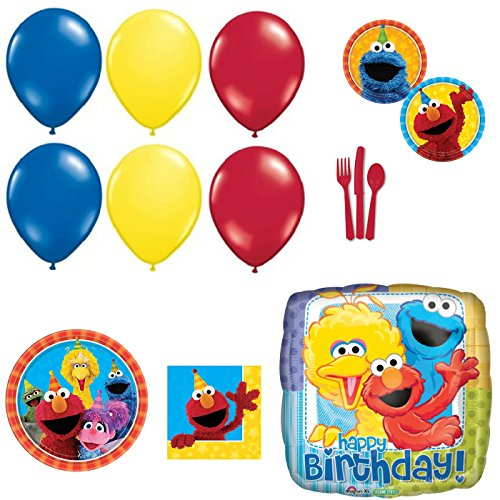 Sesame Street Happy Birthday Party Supplies and Balloons (Sesame Street Party Big Bird Lunch Napkins)