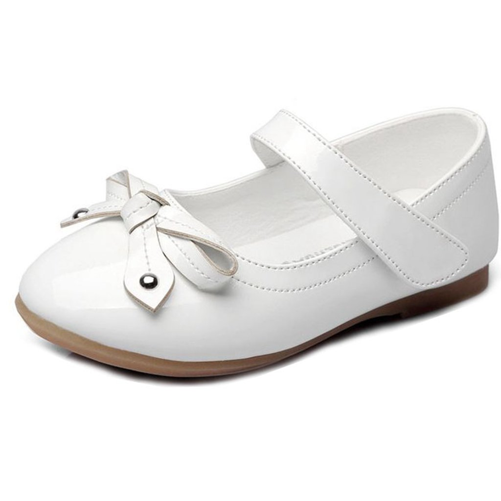 GIY Girls Mary Jane Dress Ballet Bowknot Casual Slip On Dressy Party Ballerina Flats Shoes
